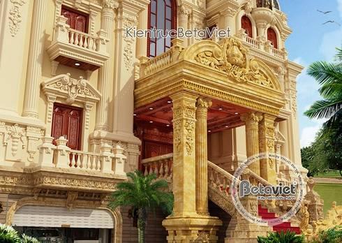 Phối cảnh mẫu thiết kế biệt thự lâu đài 3 tầng kiểu Pháp đẳng cấp (CĐT: Ông Chung - Hà Nam) BT16016:   by Công Ty CP Kiến Trúc và Xây Dựng Betaviet