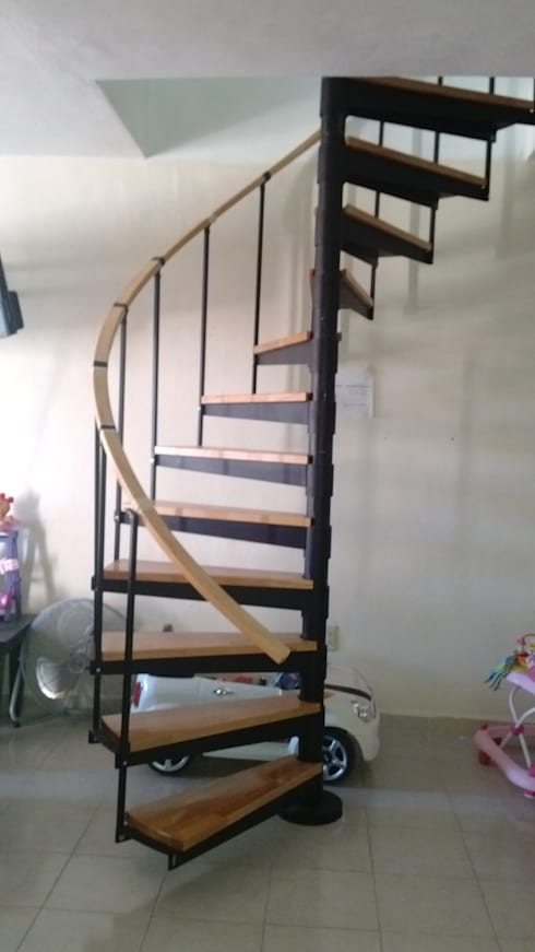 Escalera Caracol Modelo Yaxchilan De Suvire Escaleras Homify