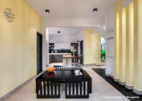 Dining Room Design: modern Dining room by M/S Ashwin Architects