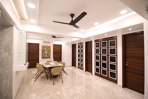 dining area 1: modern Dining room by Three Interiors