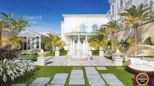 ​Landscaping of the future from Katrina Antonovich: classic Houses by Luxury Antonovich Design