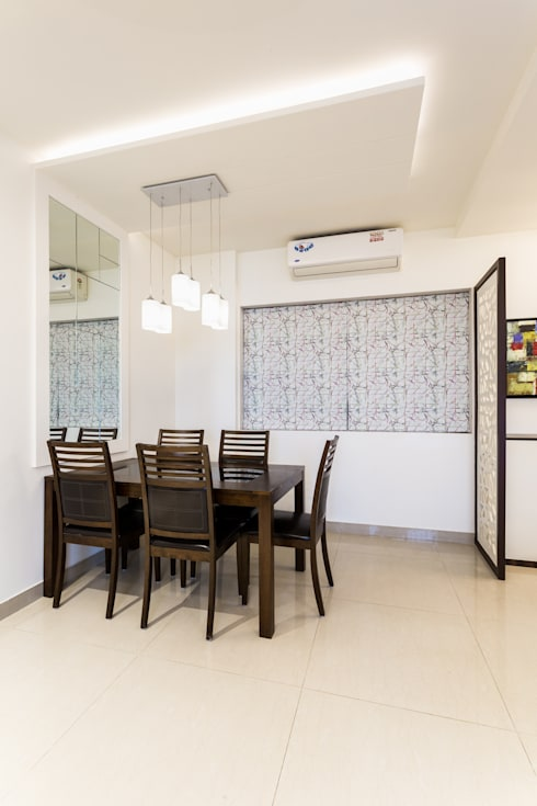 kandivili residence: modern Dining room by Rennovate Home Solutions pvt ltd