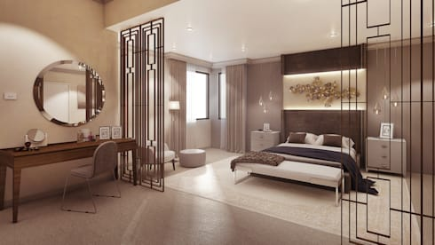 Main Bedroom: modern Bedroom by Dessiner Interior Architectural