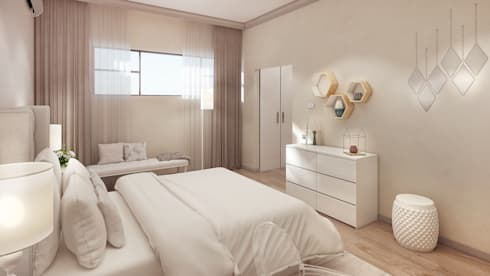 Girl's Bedroom: modern Bedroom by Dessiner Interior Architectural