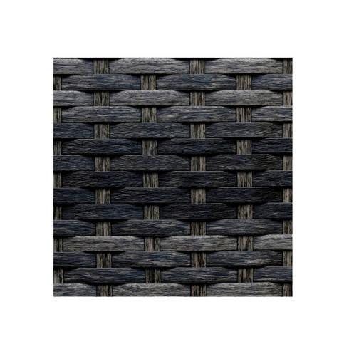 Pouf Rattan Negro Mixto: Balcones y terrazas de estilo  por Afuera Diseño