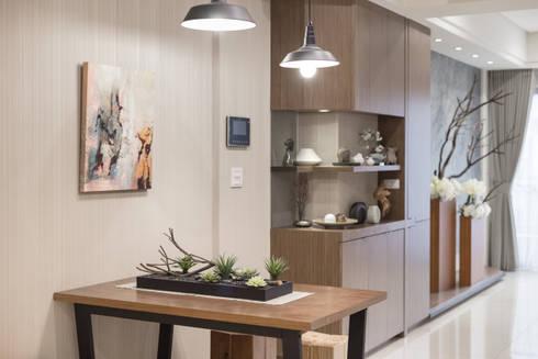 簡約 / 都會風:  餐廳 by 騰龘空間設計有限公司