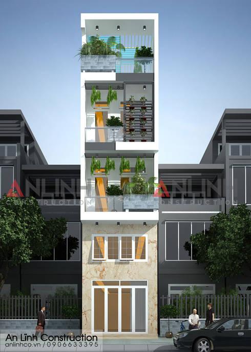Công trình thiết kế xây dựng nhà phố tại quận Tân Bình:   by CÔNG TY THIẾT KẾ XÂY DỰNG AN LĨNH