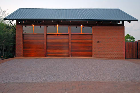 Garages:  Double Garage by Hugo Hamity Architects