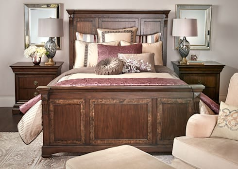 Brosnan Bed: classic Bedroom by Bombay Canada