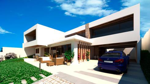 Vivienda unifamiliar: Casas unifamiliares de estilo  por arQd spa