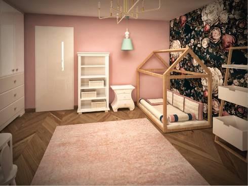 Dormitorio infantil:  de estilo  por Fernando Borda Arquitectura de Interiores