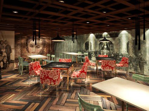 Salón en segundo piso:  de estilo  por Fernando Borda Arquitectura de Interiores