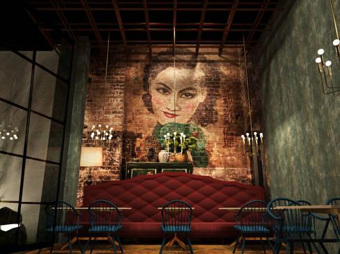 Salón principal:  de estilo  por Fernando Borda Arquitectura de Interiores