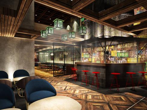 Bar exterior:  de estilo  por Fernando Borda Arquitectura de Interiores