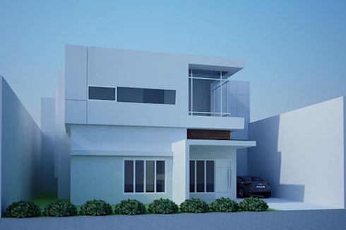day view-1:  Rumah by Cendana Living