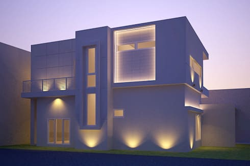 night view-2:  Rumah by Cendana Living