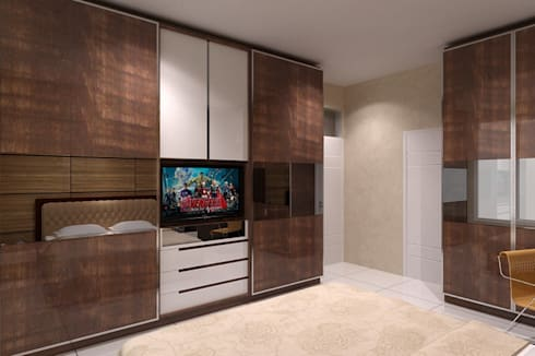 wardrobe minimalist:  Bedroom by Cendana Living