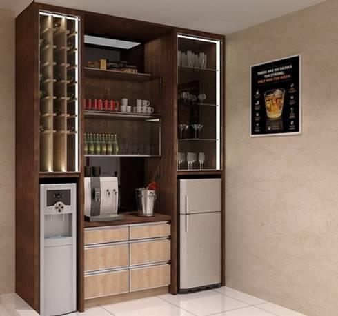 Minibar 2nd floor:  Wine cellar by Cendana Living