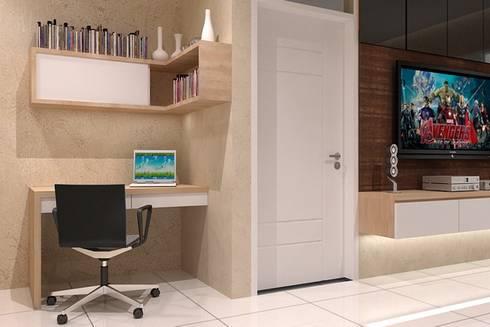 study desk:  Study/office by Cendana Living
