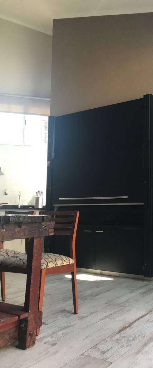 Asador: Cocinas de estilo moderno por Küp Arq