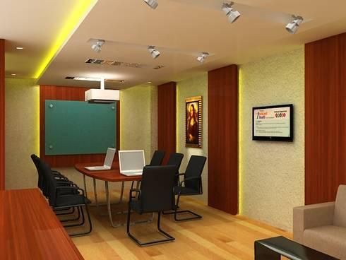 Meeting room 4th floor view-1:  Gedung perkantoran by Cendana Living