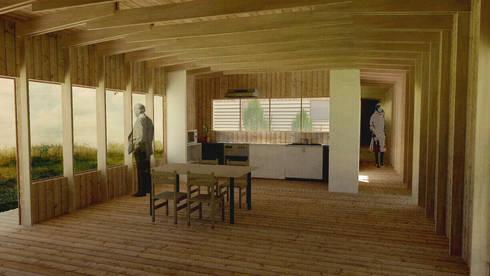 Casa de campo, Cumpeo.: Comedores de estilo rural por Viga Arqutiectos
