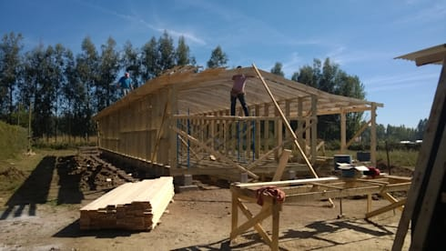 Casa de campo, Cumpeo.: Hogar de estilo  por Viga Arqutiectos