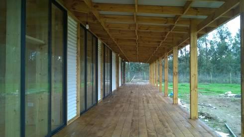 Casa de campo, Cumpeo.: Casas de campo de estilo  por Viga Arqutiectos