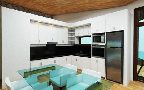 Vivienda Vacacional: Muebles de cocinas de estilo  por Arquitecto Javier Escobar
