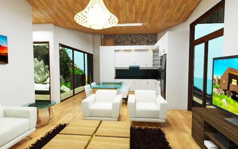 Vivienda Vacacional: Casas de madera de estilo  por Arquitecto Javier Escobar