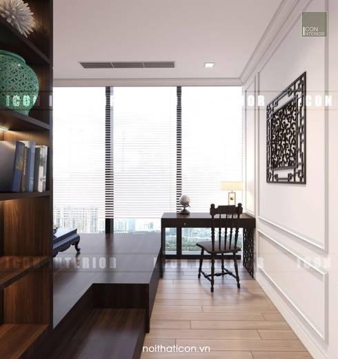 Cảm hứng Đông Dương trong thiết kế nội thất căn hộ Vinhomes Golden River:  Phòng giải trí by ICON INTERIOR