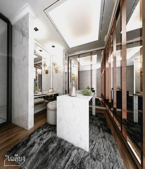 Home Renovate - Baan Klangmuang Pinklao-Charan:  ห้องแต่งตัว by คุณเฉลียง - ออกแบบตกแต่งภายใน