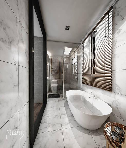 Home Renovate - Baan Klangmuang Pinklao-Charan:  ห้องน้ำ by คุณเฉลียง - ออกแบบตกแต่งภายใน