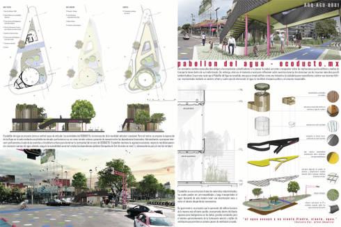 Pabellón del Agua:  de estilo  por Lúdico Arquitectos
