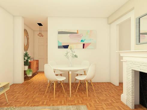 Mid century moderno - Living y Comedor: Comedores de estilo escandinavo por MM Design