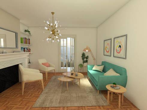 Mid century moderno – Living y Comedor: Livings de estilo escandinavo por MM Design
