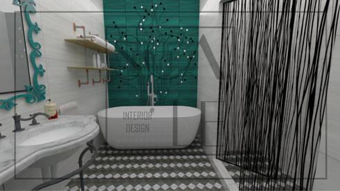 Servicios higiénicos de habitación principal: Baños de estilo industrial por Scale Interior Design