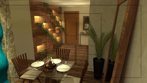 Comedor de vivienda: Baños de estilo topical por Scale Interior Design