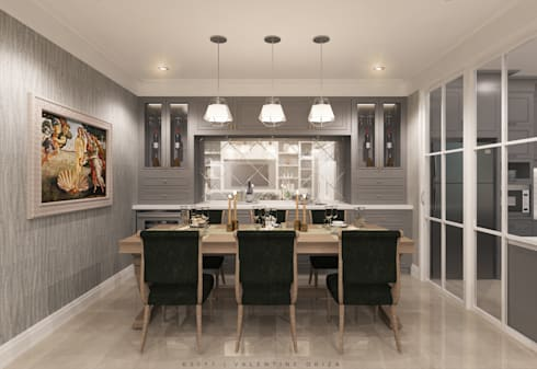 Dining room:   by D'Project Interior