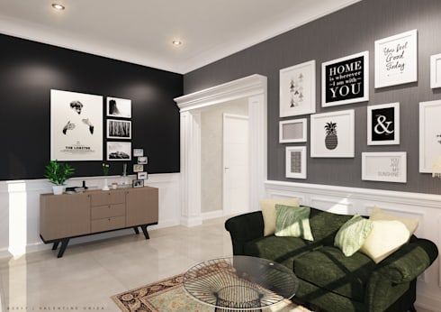 Living room:   by D'Project Interior