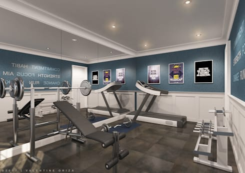 Gym Area:   by D'Project Interior