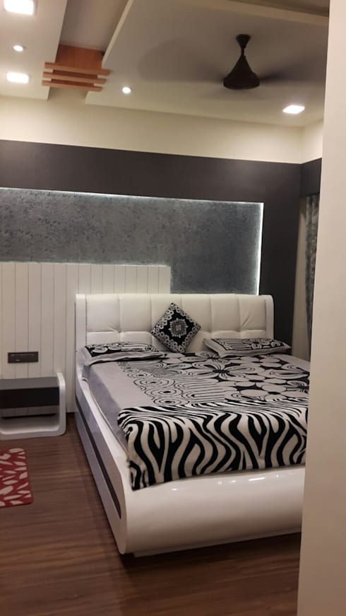 3 bhk home at Lodha palava Dombivli : classic Bedroom by Service Angel Creative Designs