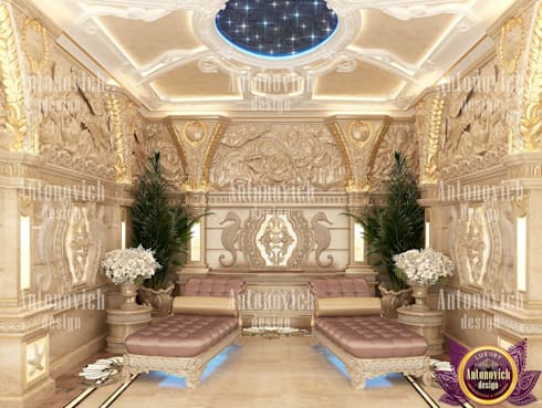 SPA interior design by Katrina Antonovich: asian Spa by Luxury Antonovich Design
