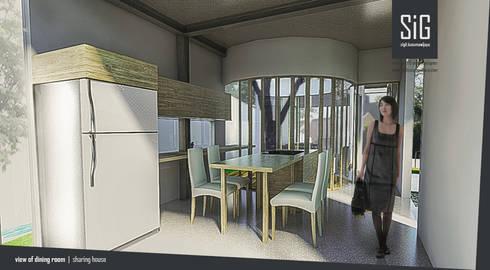 Rumah Riung (Communal Sharing & Gardening House):  Ruang Makan by sigit.kusumawijaya | architect & urbandesigner