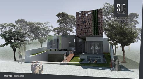 Rumah Riung (Communal Sharing & Gardening House):  Rumah tinggal  by sigit.kusumawijaya | architect & urbandesigner