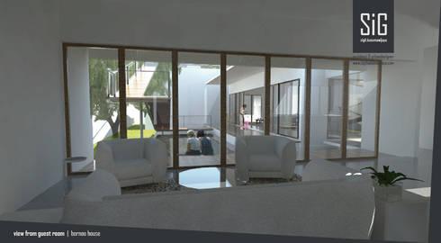 Borneo House:  Ruang Keluarga by sigit.kusumawijaya | architect & urbandesigner