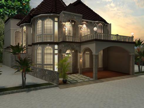 Exterior:  Rumah tinggal  by VaDsign