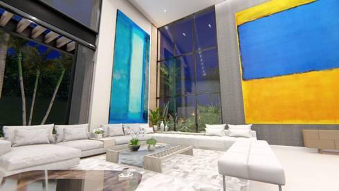 casa la riverita : Salas de estilo moderno por astratto