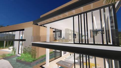 casa la riverita : Casas campestres de estilo  por astratto