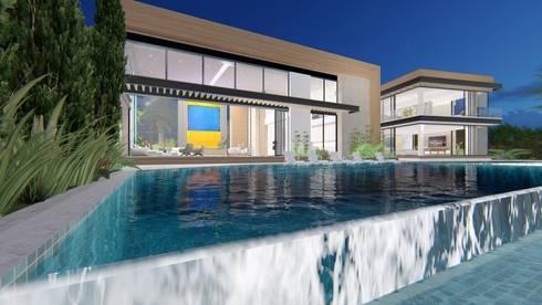 casa la riverita : Casas de estilo moderno por astratto